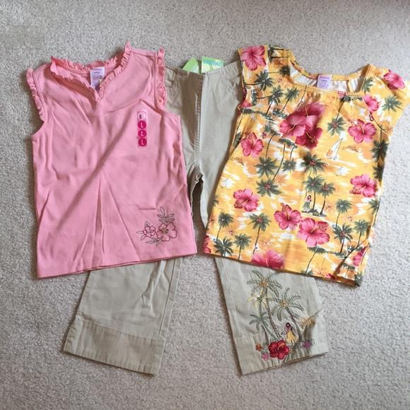 Gymboree 7 8 10 12 Set All Heart Navy Top Pink Capri Leggings NWT Outlet
